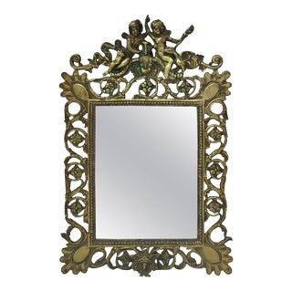 French Bronze Mirror Renaissance Style, circa 1880 For Sale