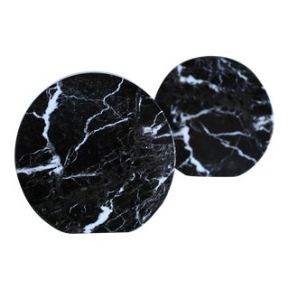 Modernist Italian Black Marble Bookends