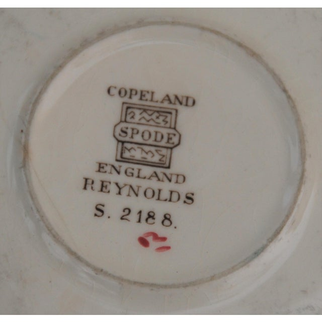 Red Vintage English Cottage Style Spode Saucer in the Reynolds Pattern For Sale - Image 8 of 8