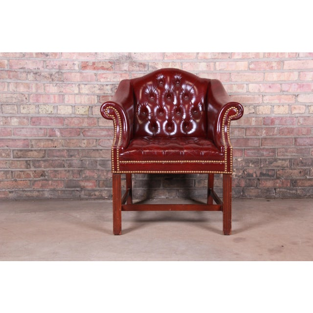 Hancock & Moore Chesterfield Tufted Leather Club Chair For Sale - Image 11 of 11