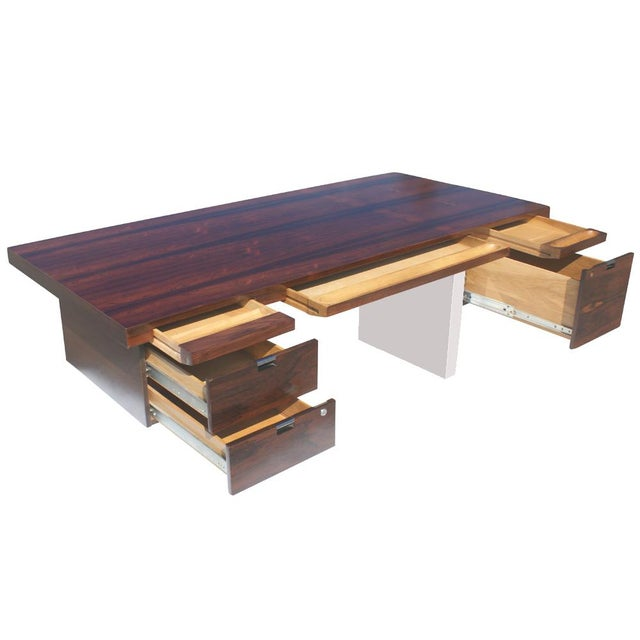 Dunbar Roger Sprunger Stainless Rosewood Desk - Image 5 of 5