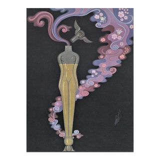 Rare! Matted Art Deco Perfume Bottle Print by Erté For Sale