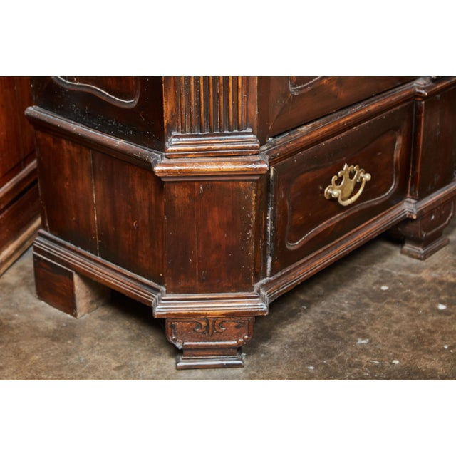 Late 18th Century 18th Century Danish Louis XVI Pine Two-Door Cabinet For Sale - Image 5 of 10