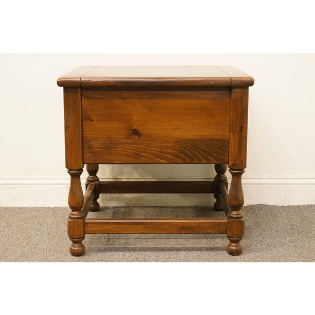 Late 20th Century Vintage Ethan Allen Pine Nightstand For Sale - Image 10 of 13