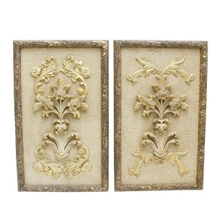 John Richard Las Flores Wall Plaques - A Pair