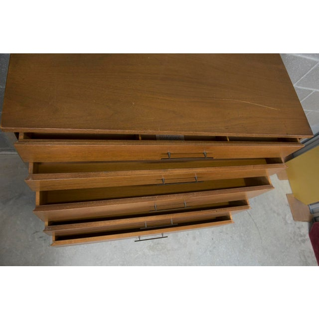 Mid Century Modern Paul McCobb for Calvin Walnut & Brass Chest of Drawers or Highboy - Image 3 of 9