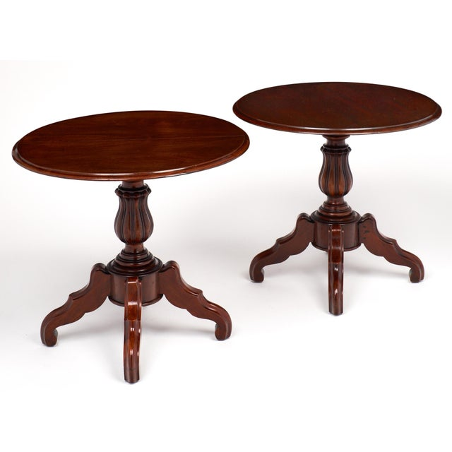 French French Antique Faux Pair of Louis Philippe Side Tables For Sale - Image 3 of 11