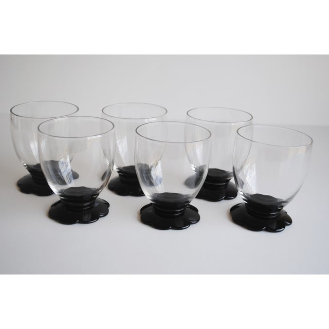 Black Scalloped Cocktail Glasses, Set of 6 - Image 6 of 8