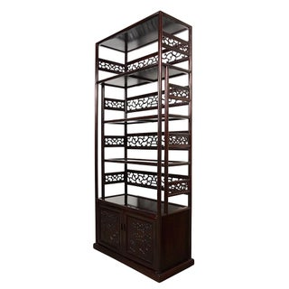20th Century Chinese Hand Carved Rosewood Book Shelf/Display Cabinet Preview