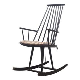 Black Jorgen Baekmark Rocking Chair For Sale