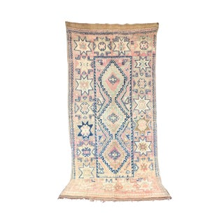 "Beni M'Guild Vintage Moroccan Rug, 6'6"" X 12'0"" Feet"