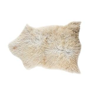"""Contemporary Handmade Long Soft Wool Sheepskin Pelt - 2'4""""x3'3"""""""
