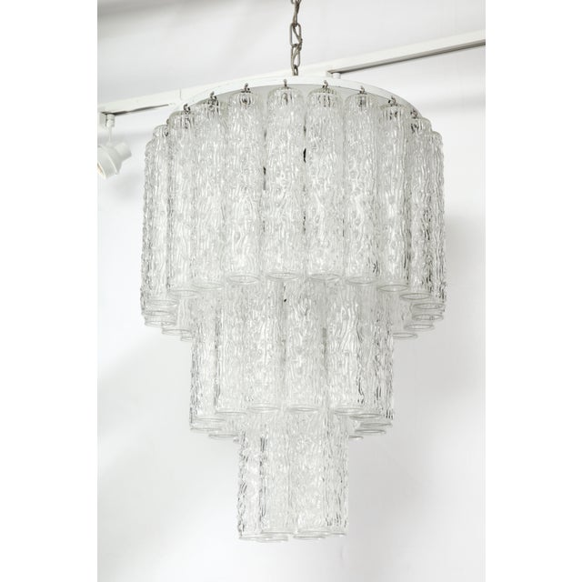 Murano Glass Tube Chandelier For Sale - Image 9 of 10