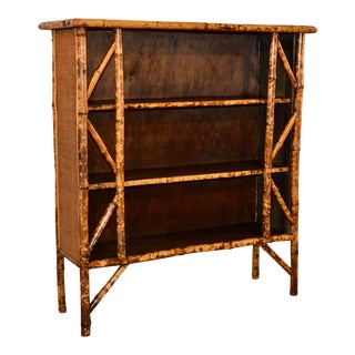 19th C French Bamboo Shelf For Sale