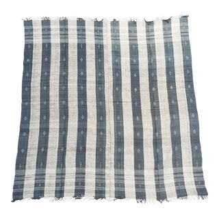 Gray Homespun Wool Bed Cover For Sale