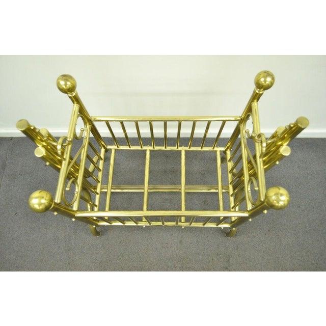 Brass Vintage Victorian Brass Infant Cradle For Sale - Image 8 of 13
