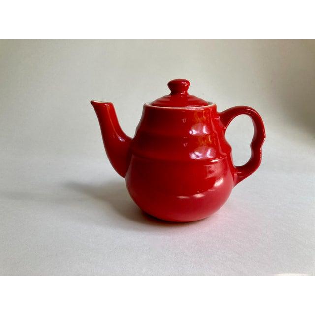 Universal Cambridge Red Ceramic Beehive Tea Pot For Sale - Image 13 of 13