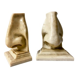 Modern Nose Bookends, Pair