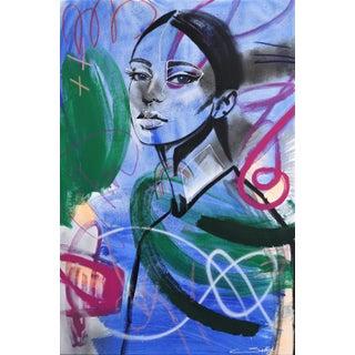"""Series II Blue"" Original Artwork by Sally K For Sale"