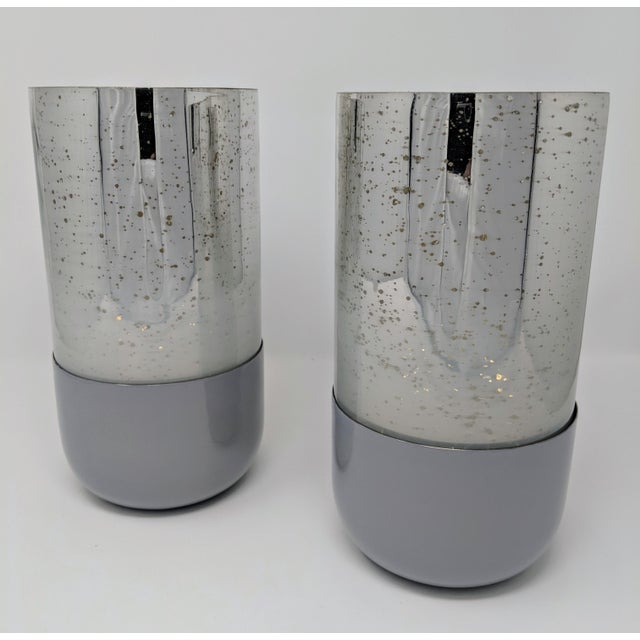 Gold Mercury Glass Candle Holders - A Pair For Sale - Image 8 of 11