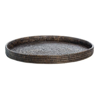 Artifacts Rattan Round Tray For Sale