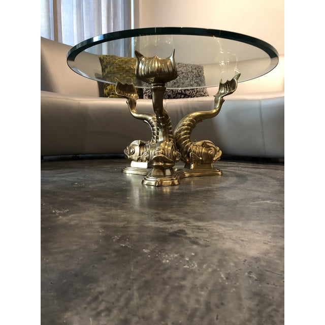 1970s Neoclassical Dolphin Coffee Table Base For Sale - Image 9 of 9