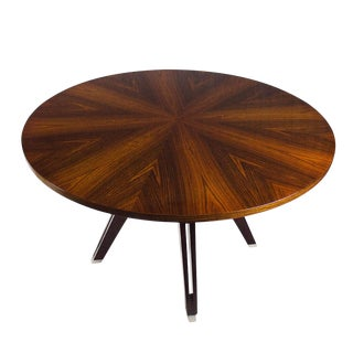 Round Table by Ico Parisi for Mim, Walnut, Mahogany Palm - Italy 1958 For Sale