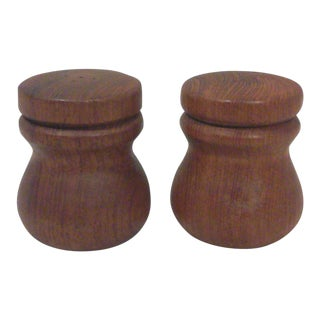 Dansk Teak Salt and Pepper Shakers - A Pair