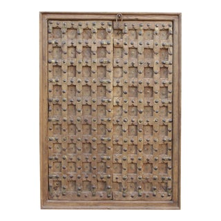 Antique Moorish Star Carved Door