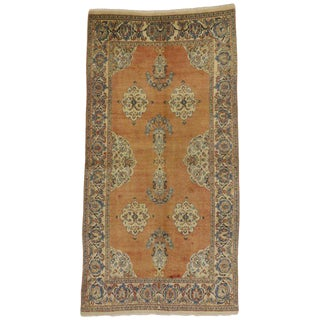 20th Century Persian Tabriz Rug With Swedish Farmhouse Style - 4′ × 7′7″ For Sale