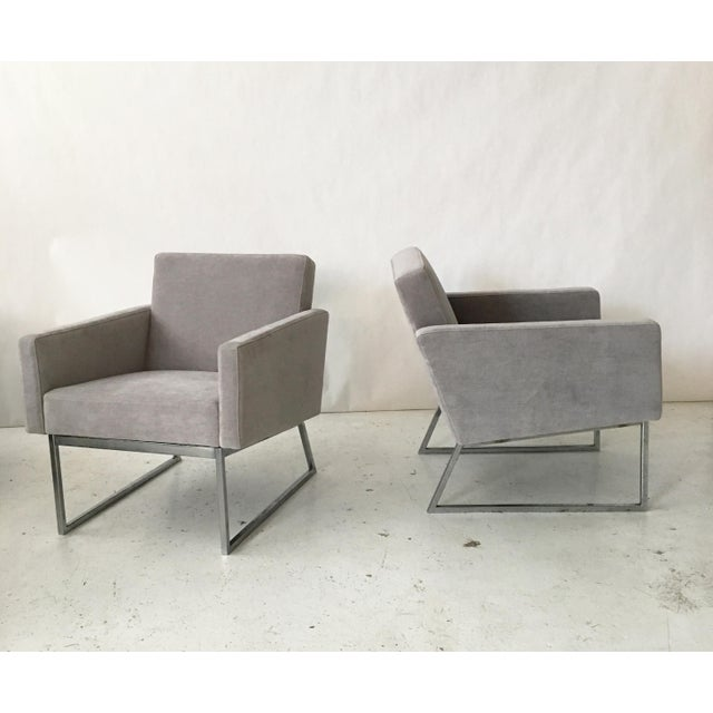 Milo Baughman Lounge Chairs- A Pair - Image 2 of 10