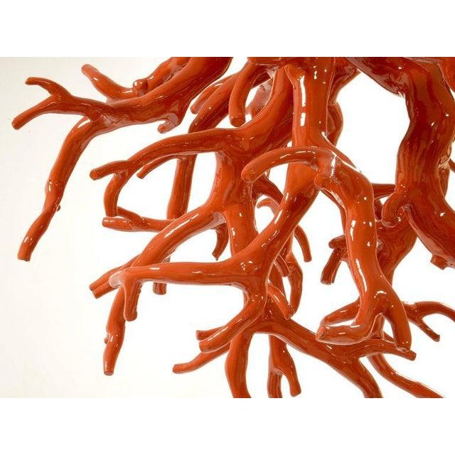 Maurizio Epifani Suspended coral sculpture Painted iron Italy, 2000 Measures: H 63 cm; Diam.: 60 cm.