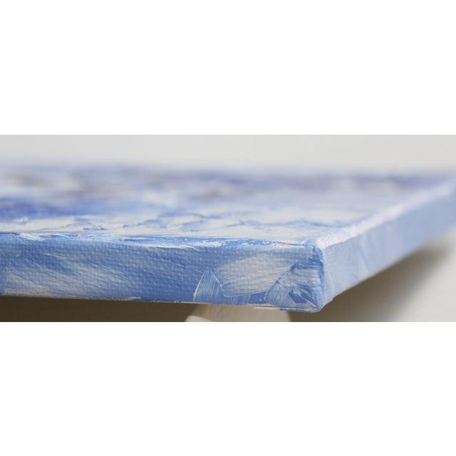 """Wedgwood Blue #2"" Celeste Plowden Painting - Image 3 of 4"