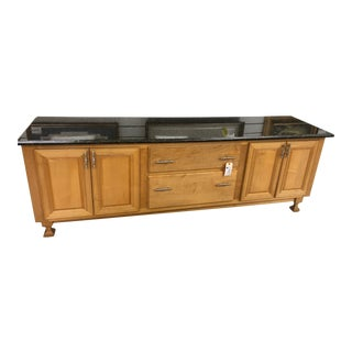 Custom Marble-Top Cabinet For Sale