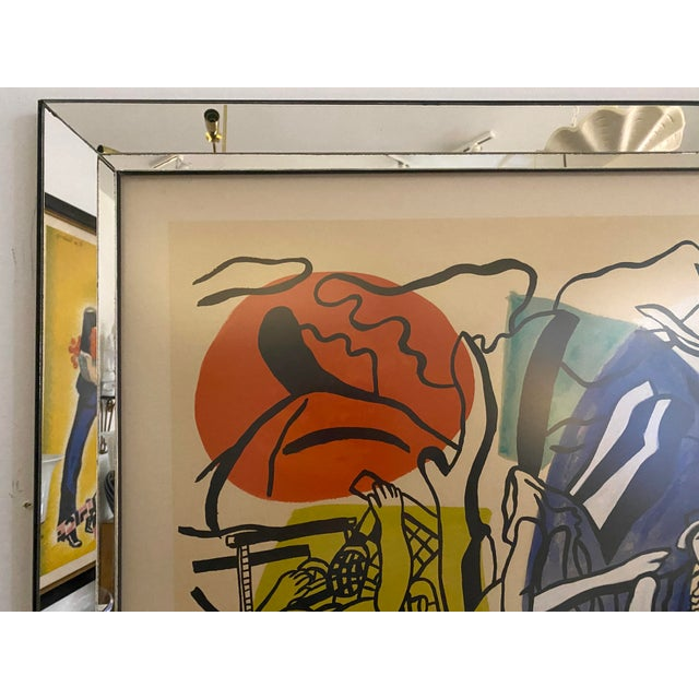 """Fernand Léger Mid-Century Modern Leger Style Lithograph """"Partie De Campagne"""" (Country Party) For Sale - Image 4 of 9"""