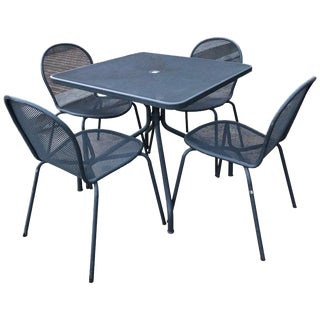 1950s Vintage Emu Italian Modern Patio Set- 5 Pieces For Sale