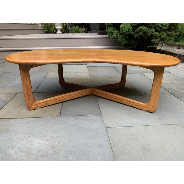 1970s Mid-Century Modern Lane Furniture Kidney Shaped