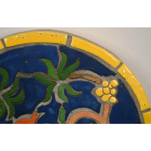 """1960s Vintage Henry Mercer Moravian Tile Works Red Bird on Branch """"Silva Vocat"""" Plaque For Sale - Image 9 of 12"""