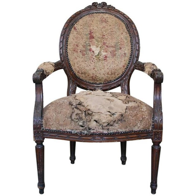 Louis XVI Style Armchair - Image 9 of 9