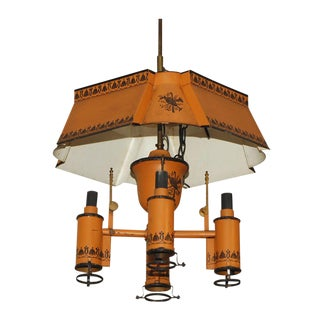 Orange Tole Chandelier