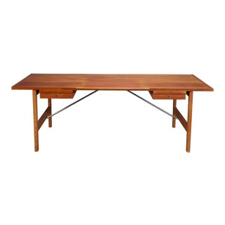 Hans J. Wegner for Andreas Tuck Danish Mahogany and Oak Desk