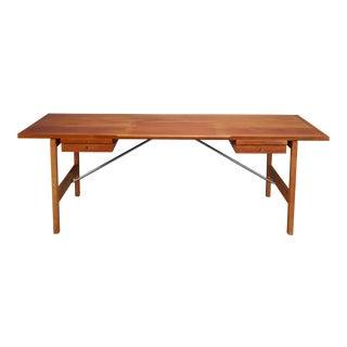 Hans J. Wegner for Andreas Tuck Danish Mahogany and Oak Desk For Sale