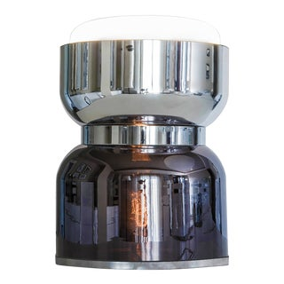 Contardi Clessidra Kronos Table Light in Chrome and Black For Sale