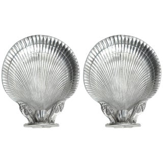 Arthur Court Shell Candle Sconces - a Pair For Sale