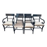 Image of 1960s Vintage Regency Dining Chairs - Set of 6 For Sale