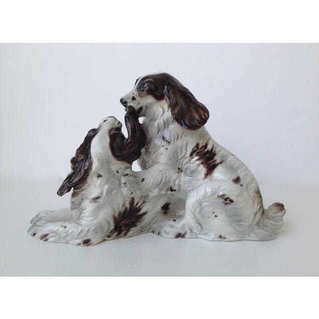 Vintage Italian Porcelain Springer Spaniels For Sale - Image 5 of 11