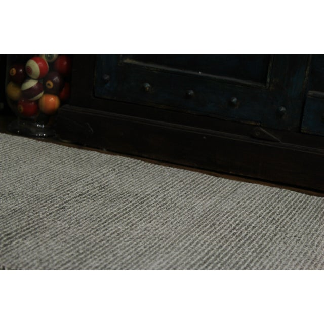 Contemporary Gray & White Striped Rug - 2'8'' x 10' - Image 6 of 6