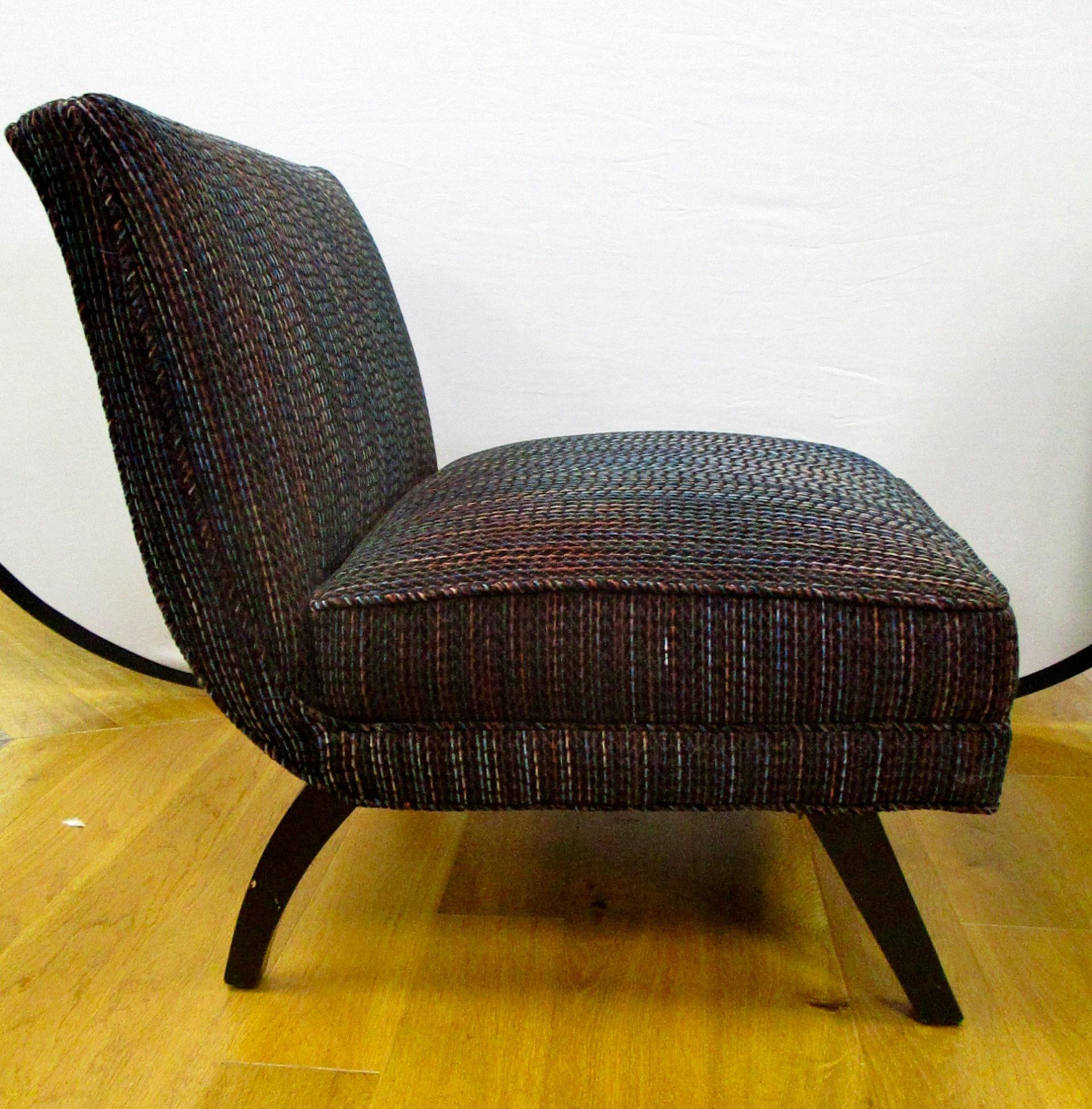 Mid Century Modern Slipper Chairs   A Pair   Image 5 Of 8