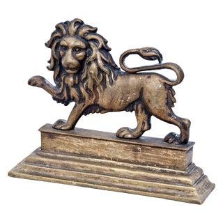 1870s Victorian English Lion Door Stop