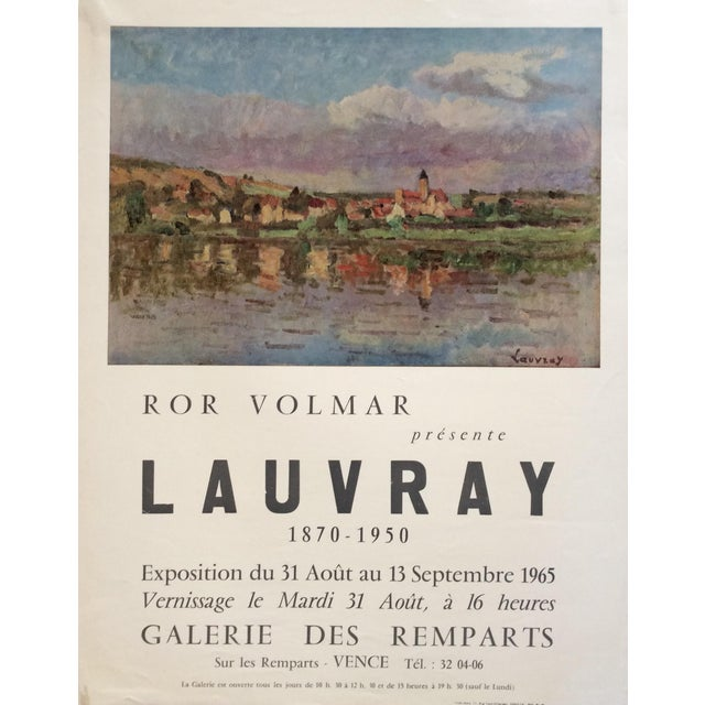 1960s Original Mid-Century French ''Lauvray'' Exhibition Poster For Sale - Image 5 of 5